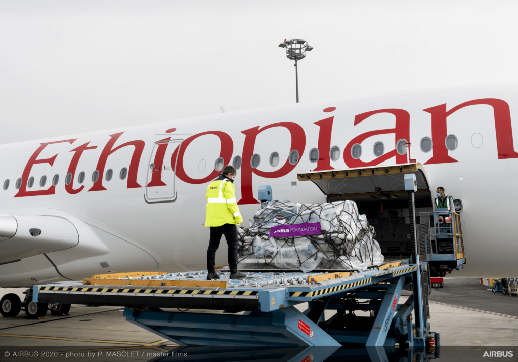 """Ethiopian Airlines' success is based on the Airbus A350 """"Preighter"""" aircraft."""